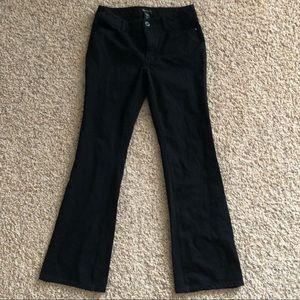 WHBM black skinny flare jeans SZ 4 Reg